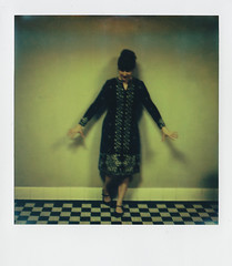* (radoznala) Tags: blackandwhite test selfportrait film church polaroid oakland pittsburgh accident basement tiles saintpaul slr680 impossibleproject v4c px680 somethinglikedancing