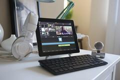 snowflake blue 3 apple keyboard workstation setup ipad
