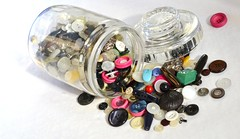 A jar of buttons (hcorper) Tags: glass nikon buttons collection jar tsc samling knappar glasburk d3100