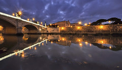 Rome the Star (G.hostbuster) Tags: rome roma clouds reflections river stars nuvole fiume tevere riflessi ghostbuster gigi49