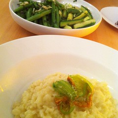 Risotto and veggies