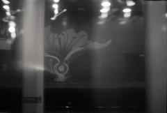 Dupont mosaic (Beaulawrence) Tags: camera summer white toronto ontario canada black blur slr film station analog speed canon vintage subway lomo long exposure slow kodak mosaic ttc grain platform experiment august retro line negative to a1 135 yonge spadina expired dupont ont 2012 on 35m lomograpy 6asa universy spacefilm