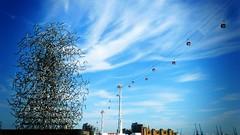 Quantum Cloud, Emirates Air Line (firstnameunknown) Tags: sky sculpture abstract london art skyline modern clouds lofi emirates airline cablecar publicart antonygormley quantumcloud northgreenwichpeninsula