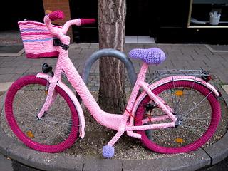 Fahrrad verstrickt