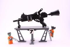 Volcano Minigun Details (Hammerstein NWC) Tags: skeleton toy death skull robot lego boobs space scifi bones mecha intergalactic mech technomancy brickarms