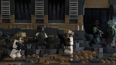 Preparations (Andreas) Tags: desert lego military eu europeanunion warsawpact brickarms postapoc thepurge advancedinfantry legoscene h3br desertapoc