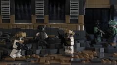 Preparations (✠Andreas) Tags: desert lego military eu europeanunion warsawpact brickarms postapoc thepurge advancedinfantry legoscene h3br desertapoc