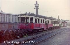 D-50389 Wesseling Bahnbetriebswerk der KBE Steuerwagen EMU/ES132 (LHB 1930) und EMU/ET4 (Falkenried