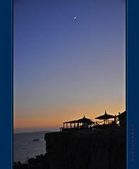 Sharm el Sheik - Not only underwater (Jambo Jambo) Tags: sunset sea sky panorama moon seascape landscape nikon tramonto mare redsea egypt sharmelsheikh luna cielo reef egitto scogliera marrosso d5000 nikonflickraward jambojambo