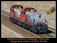 310 al cuadrado (Powell 333) Tags: madrid parque espaa tractor train canon tren trenes eos spain gm juan general railway carlos trains motors 7d powell railways 310 011 ferrocarril renfe enlace generalmotors parquejuancarlosi maniobras 043 adif ffcc enlaces maniobra guardacosta nohab tractores i guardacostas eos7d canoneos7d 310011 tractordemaniobras tractormaniobras 311043