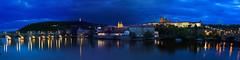 Night Prague Panorama (Maria Svecova) Tags: praha praskhrad karlovmost bluemoment nbreie nbreievltavy