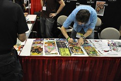 Campbell Signing LOTS of Books (Tom_Forbes) Tags: jscottcampbell lasvegascomicexpo2012 lvcomicexpo