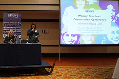 Women Teachers  Consultation Conference (nasuwt_union) Tags: nasuwt education conference woman man black white speaking stand hall meal drinks happy members workshop pesident birmingham banner meeting stage positive portrait guidance crowd teachers leaders lectures students awards executive staff show tell help advice support listen adults people england scotland northern ireland wales strong women men insturction health safetly wellbeing classroom school college university table voting union best brilliant workplace seminar