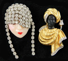 1031. Two High End Figural Costume Brooches