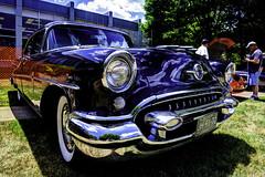 1955 Oldsmobile 98 HDR (hz536n/George Thomas) Tags: summer black 1955 june canon lab michigan orphan canon5d flint hdr olds oldsmobile 2012 smörgåsbord photomatix labcolor ef1740mmf4lusm cs5 sloan2012 sloanmuseumautofair