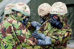 121003-A-3994P-002 (HQ Allied Rapid Reaction Corps) Tags: uk training soldier army cornwall rehearsal management situation nato nrf respirator publicaffairs rafstmawgan jointtraining cbrn chemicalsuit arrc promask natoresponseforce alliedrapidreactioncorps s10respirator exercisenobleledger arrcsptbn