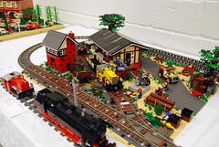Various Layouts 20 (L@go) Tags: station train fan lego weekend 2012 skrbk skaerbaek