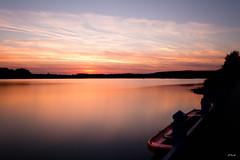 Lake Sunset #2 (Michel Waltrowski) Tags: sunset sun lake water soleil boat lac centerparcs bateau coucherdesoleil barque nd1000 lacdailette