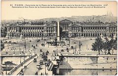 Paris - La Place de la Concorde (pepandtim) Tags: old paris france de la early place postcard cit ses nostalgia concorde nostalgic lip postale carte editions merveilles artistiques bergre potonnie
