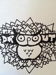 Dropout Owl Concept (Docobron Dropout) Tags: nyc art graffiti sticker stickers slap slaps dropout bradleyhorwitz