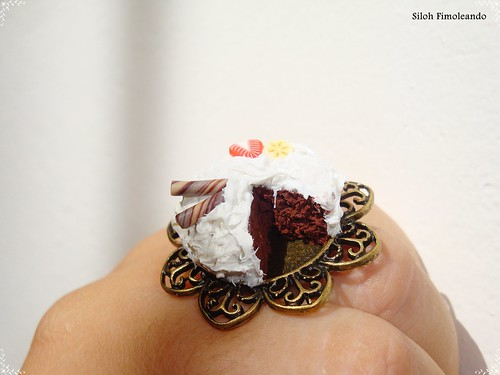 Anillo tarta de chocolate y nata