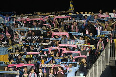 After three years the Sons of Ben have a very nice collection of scarves (Paul Rudderow- Jersey Shooter) Tags: psp pennsylvania soccer chester fans mls scarve newenglandrevolution sonsofben rudderow philadelphiaunion pplpark phillysoccerpagenet
