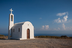 Remote chapel (macropoulos) Tags: sky white church topf25 500v20f cross bell chapel greece belfry crete remote orthodox canonef2470mmf28lusm gettyimages canoneos5d gettyimages:date_added=20121030