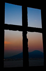 Napoli (toppona) Tags: sunset window finestra napoli naples npoles