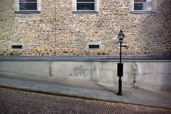 Cobblestone on a slant (Mr.  Mark) Tags: road street brick church wall photo angle montreal stock perspective lantern slant cobblerstone markboucher