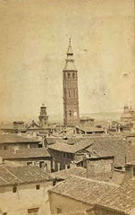 Torre Nueva ca. 1860 (GAZA - Gran Archivo Zaragoza Antigua) Tags: 1860
