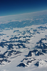 summer snow (Jenna Pinkham) Tags: flyover greenland mountains snow
