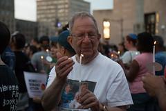 Peace Vigil -10 (MosaicMarj) Tags: brooklyn peace unity faith parkslope vigil candlelightvigil grandarmyplaza blacklivesmatter ericladams altonsterling philandocastile delrawnsmall whitepeopleforblacklives 3in3days