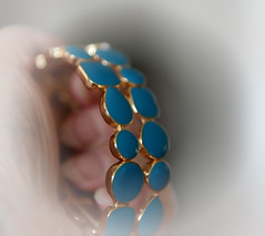 Bracelet (Ptolemy the Cat) Tags: bracelet turquoise jewellery jewelry fingers hand blur dof blue nikond600 nikonf282470mmlens