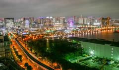 Tokyo harbor area_2_Tokyo Telecom center view room (sapphire_rouge) Tags:  aoumi kotoku rainbowbridge bay japanese      tokyobay  nightview  wangan shore  rinkaihukutoshin japan  seaside