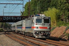 SPAX AEM-7 #2301 @ Woodbourne, PA (Darryl Rule's Photography) Tags: aem7 catenary july mow mowequipment pa passenger passengertrain pennsylvania reading readingrailroad septa summer sun train trains trentonsub woodbourne