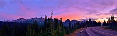 High Road (RWGrennan) Tags: mountain range tatoosh washington usa untied states northwest nw rainier road sky sunset trees rwgrennan rgrennan ryan grennan nikon d5100 national park nps landscape paradise cascade pinnacle peak clouds