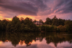 Unreal... (Kemoauc) Tags: sunrise sky thunderstorm hdr nikon d300s lake castle brensee brenschlssle stuttgart cloud colour