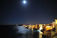 GrEEcE is... (sifis) Tags: greece syros night moon island sakalak nikon d700 2470  light