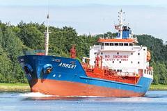 Amber 1 (maritime.fotos) Tags: amber1 sehestedt nok nordostseekanal kielcanal tanker chemikalienölproduktetanker tankschiff transmarine