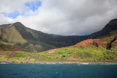 what lies at the end of the rainbow (1600 Squirrels) Tags: 1600squirrels photo 5dii lenstagged canon24105f4 napali coast pacific ocean cruise captainandys northshore kauai kauaicounty hawaii usa kalalau valley southernstar sunsetcruise