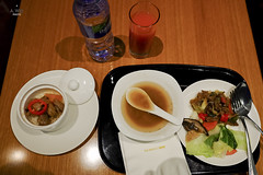 Dinner in the lounge (A. Wee) Tags: cathaypacific  thebridge  lounge hongkong hkg    china dinner