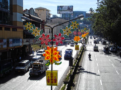 Baguio (lukedrich_photography) Tags: sony dscw55 sonydscw55 hdr philipines   pilipinas     republikangpilipinas republicofthephilippines asia southeast southeastasia pacific island baguio harrison road rd transport jeepney car flower lamppost light decoration decorative street