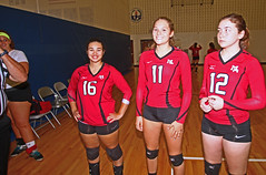IMG_9483 (SJH Foto) Tags: girls volleyball high school mount olive mt team tween teen teenager varsity tamron 1024mm f3545 superwide lens pregame ceremonies ref referee captains coin toss