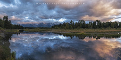 (facebook.com/michaelpaulphotoworks) Tags: tetonnationalpark nationalpark wyoming jacksonwyoming grandtetonnationalpark snakeriver reflection river americanwest morning sunrise clouds cloudy storm cold country