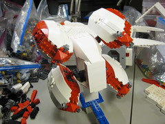 SHIPtember 2016 WIP - 13b (DJ Quest) Tags: lego shiptember space ship spaceship moc wip rear engine pod pods