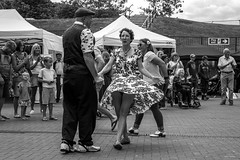 Jivin' 2 (Silver Machine) Tags: southampton hampshire yellowvintagefair vintage dancing jive couple people outdoor dress ageasbowl fujifilm fujifilmxt10 fujinonxf35mmf2rwr