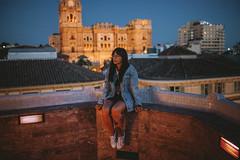 (Trompeat) Tags: malaga catedral terraza atico larios night noche lifestyle tattoo girl