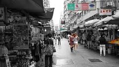 Hong Kong (Thunder1203) Tags: holiday hongkong mobilephone samsunggalaxys5 thunder1203 travel landscape scenery kowloon hk fayuenstmarket selectivecolour