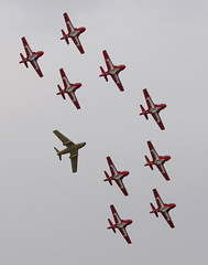 Snowbirds (aeroman3) Tags: comoxvalley snowbirds formation flying airforce tutor aircraft ct114 aerials airdemonstration sabre hawkone kentpenney acaf f86 comox bc canada