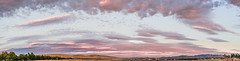 north valley sunset panorama (pbo31) Tags: california eastbay alamedacounty bayarea nikon d810 color september 2016 summer boury pbo31 panoramic large stitched panorama livermore sky sunset country 580 clouds pink
